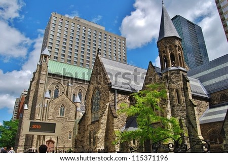 Church in Downtown Toronto, Canada