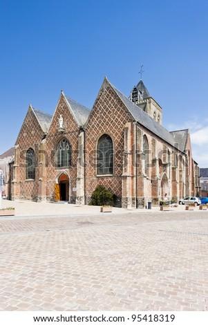 church in Esquelbecq, Nord-Pas-de-Calais, France