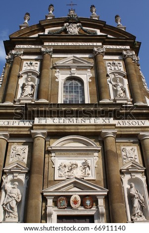 Church in Frascati. The most famous church in Frascati (Rome, Italy).