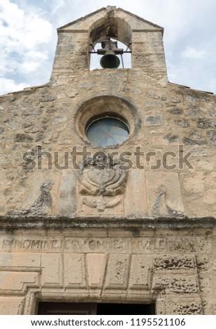 30740710da6 Church in medieval village of Les Baux de Provence. Les Baux is now given  over
