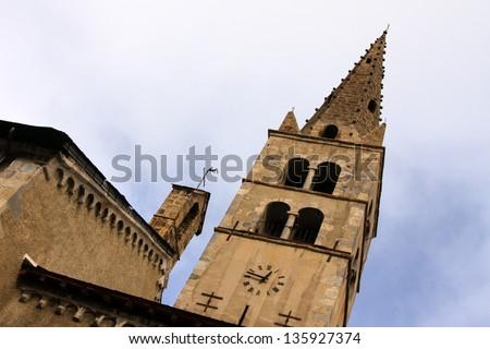Church in Monetier Le Bain Zdjęcia stock ©