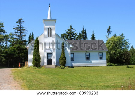 Church in rural New Brunswick, Canada .