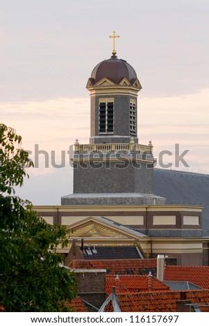 Church in sunset