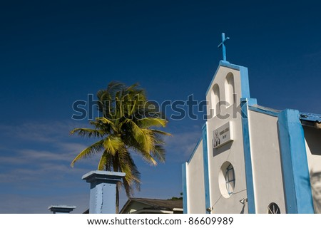 Church in the Caribbean island of San Andres