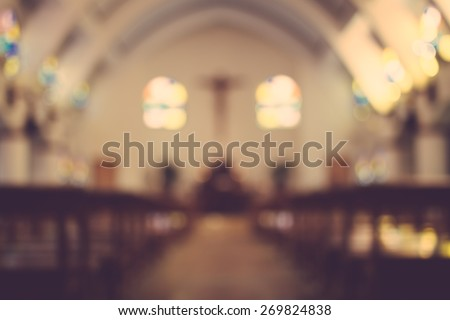 church interior blur abstract background #269824838
