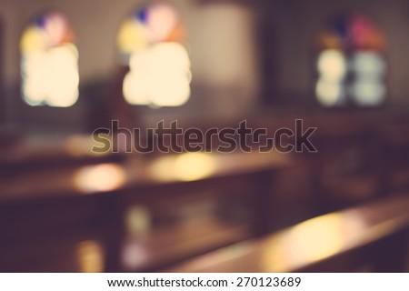 church interior blur abstract...