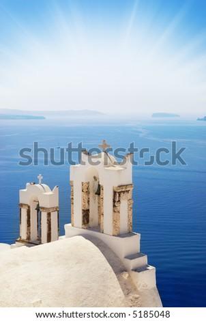 Church near the sea (Santorini Island, Greece)