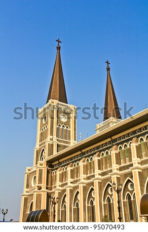 Church of Christ in thailand - stock photo
