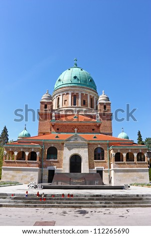 Church of Christ the King with Resting Place of the First Croatian President dr. Franjo Tu?man, Mirogoj cemetery Zagreb, Croatia
