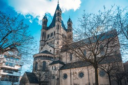 Church of Great St. Martin in Cologne, Germany.