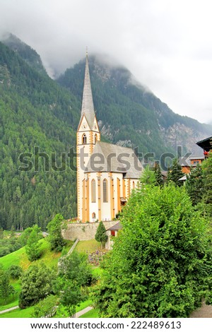 Church of Heiligenblut near the Grossglockner High Alpine Road, Austria