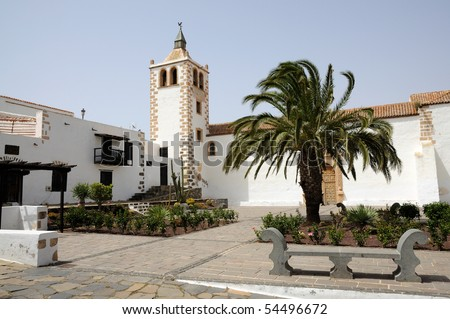 Church of historical town Betancuria, Canary Island Fuerteventura, Spain