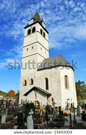 Church of our lady and cemetery (liebfrauenkirche) - Kitzbuhel Austria