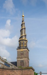 Church of Our Saviour (Vor Frelsers Kirke) spire - Copenhagen, Denmark