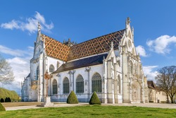 Church of Royal Monastery of Brou in Bourg-en-Bresse, France