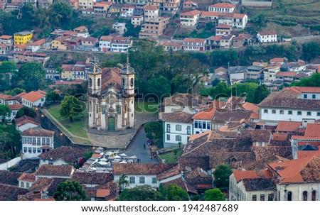 Church of São Francisco de Assis, Ouro Preto  , Brazil Foto stock ©