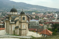 Church of Saint Demetrius in North mitrovica, Kosovo. It is a serbian orthodox church, a symbol of the division between albanians and serbs in the city of Mitrovica.