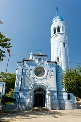 Church of Saint Elizabeth Hungarian called Blue Church, Bratislava, Slovakia