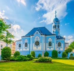 Church of Saint Elizabeth Hungarian which is one of landmarks of Bratislava, Slovakia.