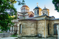 Church of Saint John The Baptist in Kerch, Crimea. It's one of oldest orthodox churches, was founded in VIII AD. It's built in traditional Byzantine style