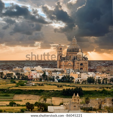Church of Saint John the Baptist, Xewkija, Gozo island, Malta