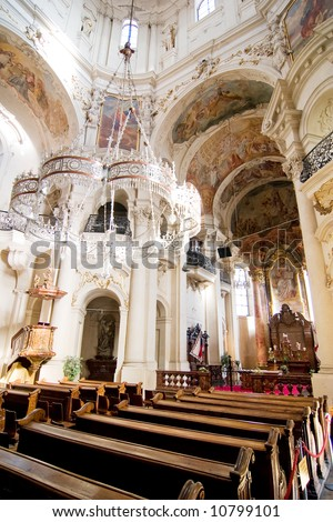 Church of Saint Nicholas in Prague, Czech Republic.