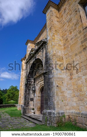 Church of Saint Peter ad Vincula, San Pedro ad Vincula in Spanish. It was built in 17th century and is located in the city of Lierganes, province of Cantabria Stock fotó ©
