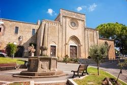 Church of San Francesco in the historic center of Tarquinia (Italy)