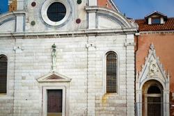 Church of San Michele in Isola on the cemetery island of San Michele, Venice, Italy
