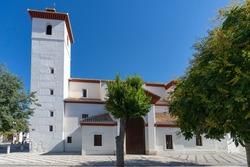 Church of San Nicolas in the Albaicin neighborhood, in Granada