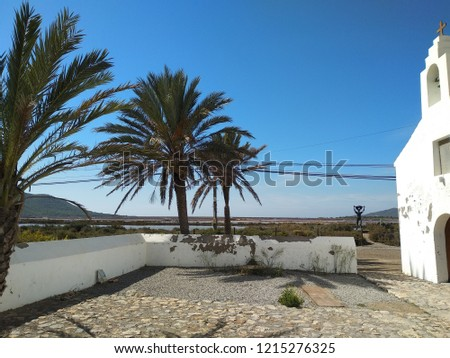 church of Sant Francesc. Saline worker's chapel. Ibiza. Foto stock ©