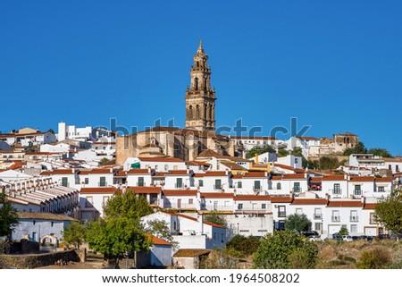 Church of Santa Catalina, Parroquia de Santa Catalina at Jerez de los Caballeros, Badajoz, Extremadura in Spain. Foto stock ©
