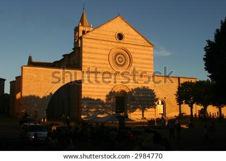 church of Santa Chiara in Assisi a beautiful town in italy