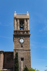 Church of Santa Maria del Mar bell tower. Valencia, Spain.