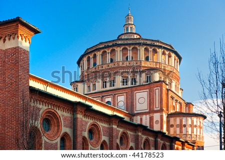 Church of Santa Maria delle Grazie, Milan, Italy, home of the famous
