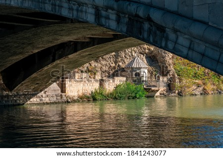 Photo of  Church of St. Abo Tbilisi on the bank of Kura river in Tbilisi