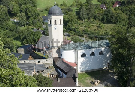 church of St.Augustin, castle Sovinec in czech, german crusader