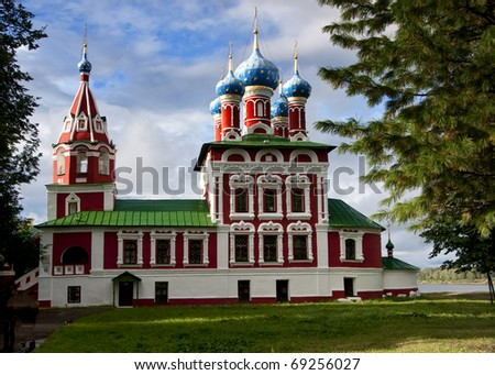 Church of St. Dmitry on the Blood in Uglich Northern Russia.