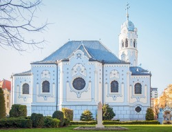 Church of St. Elizabeth commonly known as Blue Church in Bratislava, Slovakia
