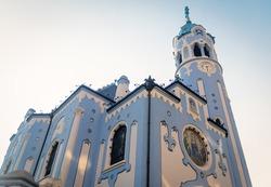 Church of St. Elizabeth of Bratislava, also known as the Blue Church