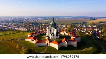 Church of St. John of Nepomuk. Zdar nad Sazavou. Czech republic Foto stock ©