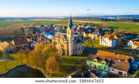Church of st. Joseph in small village Uherce in Western Bohemia. Amazing destination in Czech Republic, Central Europe. Stock photo ©