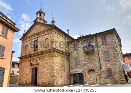 Church of St. Lorenzo. Bobbio. Emilia-Romagna. Italy. - stock photo