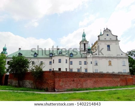 Church of St Michael the Archangel and St Stanislaus Bishop and Martyr and Pauline Fathers Monastery in Krakow old city in Poland, one of small outcrop near near Wawel Castle and Wisla River. #1402214843