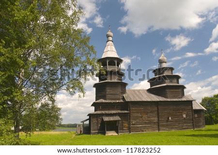 Church of St. Nicholas in 1767. Vitoslavlitsy Veliky Novgorod Ru