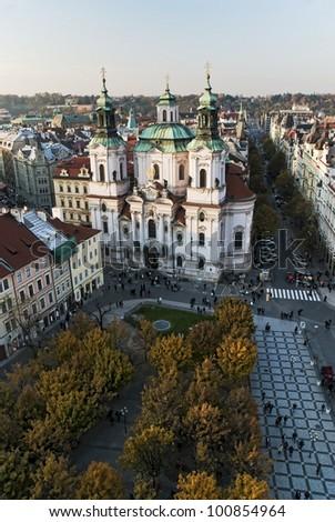 Church of St. Nicholas. Old Town Square, Prague, Czech Republic