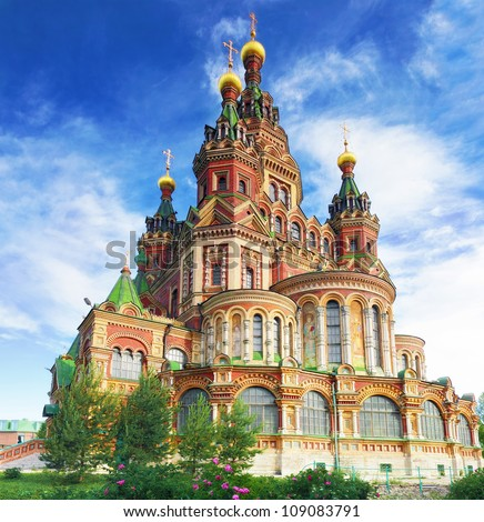 Church of St. Peter and Paul Church, Peterhof, Saint Petersburg, Russia