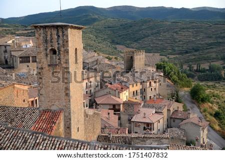 Church of St Sebastian at Sos del Rey, Aragon, Spain Foto stock ©