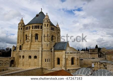 Church of the Dormition, Jerusalem, Israel. - stock photo
