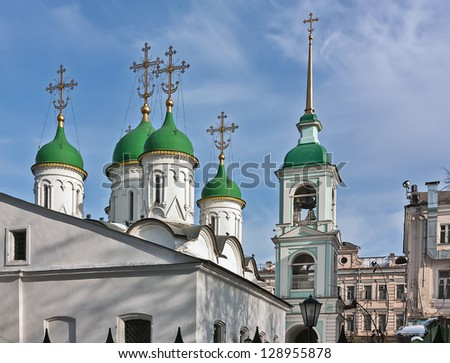 Church of the Holy Trinity in Listy is one of the oldest in Moscow. Zdjęcia stock ©